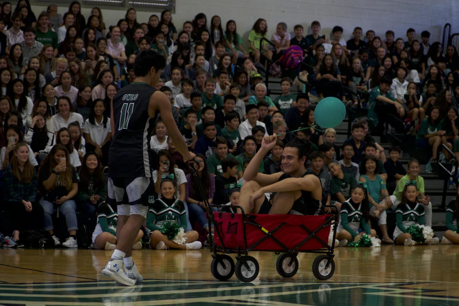 Last years' homecoming featured games and a pep rally.