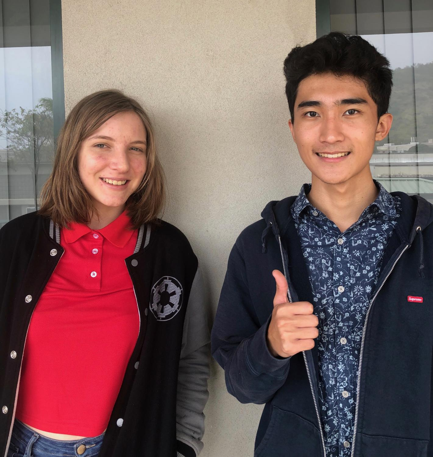 National Merit Scholarship semifinalists Jessie Garbiel and Connor Mukai give advice for preparing for the SAT.