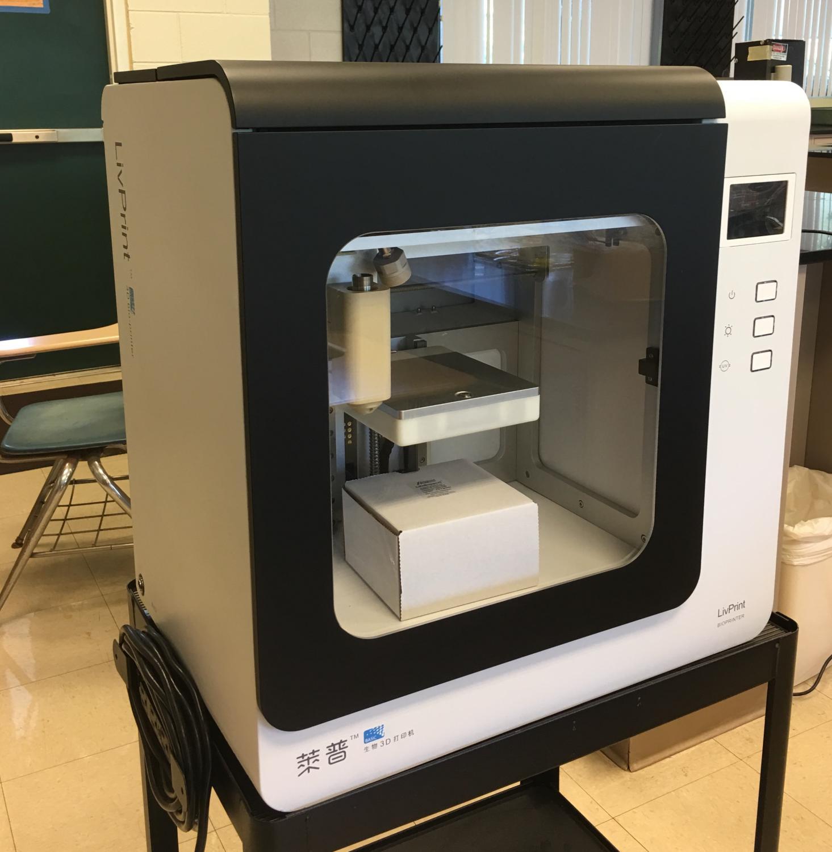 New bio 3D printer at Hartley Complex.