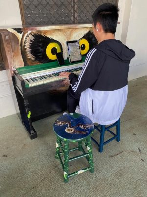 Pop-up Art: student-painted piano brings music to Scudder