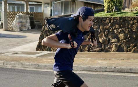 Mid-Pacific students  are finding ways to stay fit even through the stay at home order. Senior Kellen Tanaka on a run in his neighborhood.