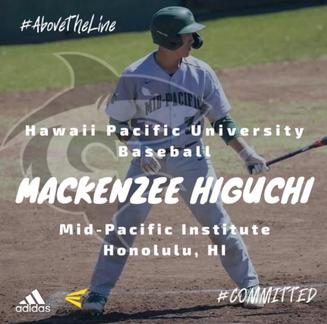 On Sept.10, Mackenzee Higuchi announced on Instagram that he is committed to play baseball at Hawaii Pacific University. Mid-Pacific athletes are promoting themselves virtually due to COVID-19.