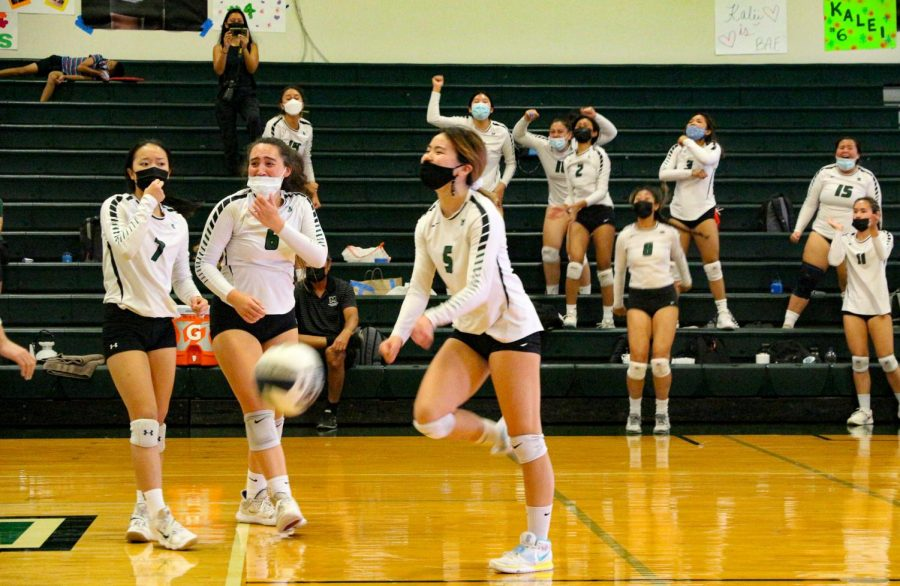 Girls Varsity of six committed seniors played their senior game on April 25. Emotions arose after the seniors last set ended.